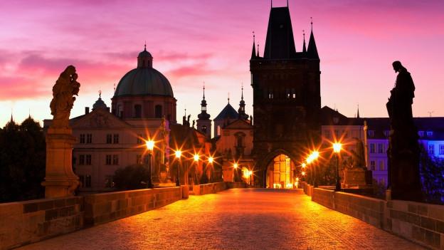Vista sin la punt Charles a Prag.
