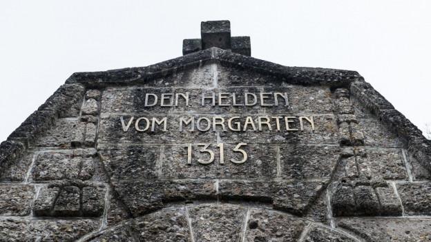 """Mir cun si """"Den Helden von Morgarten 1315""""."""