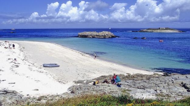L'archipel Le Glenan en la Bretagna.