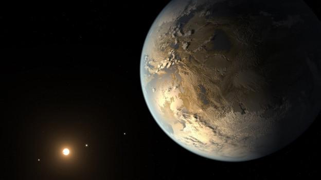 Il planet Keppler 425b en l'atmosfera.