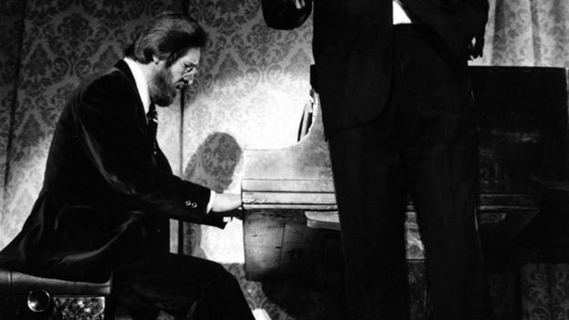 Purtret da Bill Evans durant in da ses concerts.