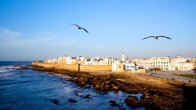 La cità Essaouira a Maroc.