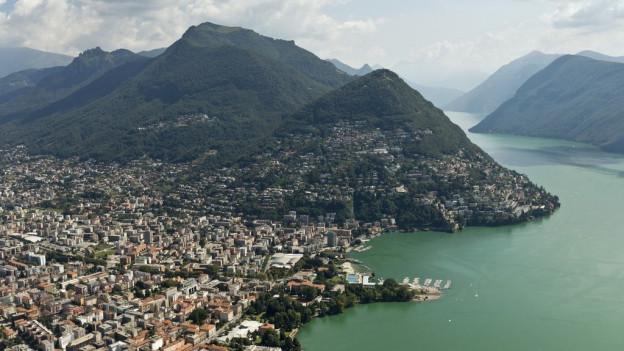 Lugano ed il Monte Brè.