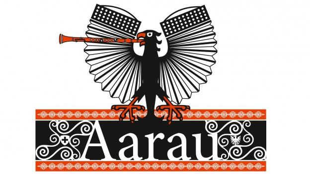 Logo da la Festa federala da la musica populara ad Aarau.