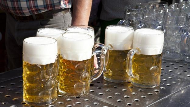 Plirs maglies (mass) emplenids cun biera.