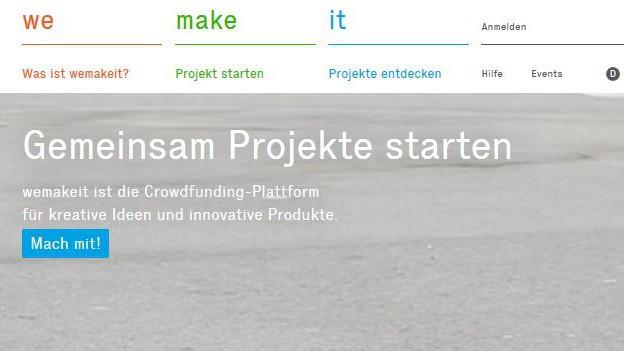 Sin plattafurmas d'internet sco www.wemakeit.com po in e scadin rimnar daners per projects.