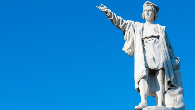 Ina statua da Christoph Columbus.