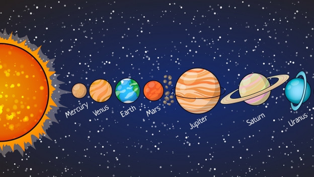 Differents planets.