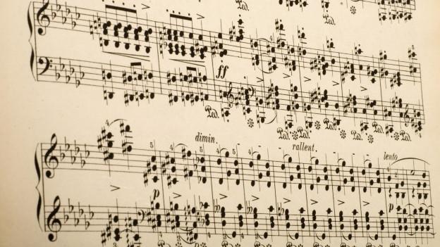 Fegl da notas da Frédéric Chopin