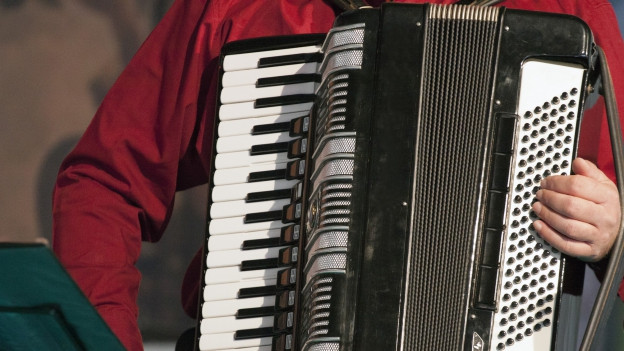 Um che suna in accordeon.