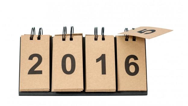 Chalender che mida dal 2015 sin il 2016.