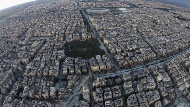 Vista sin la citad Aleppo.