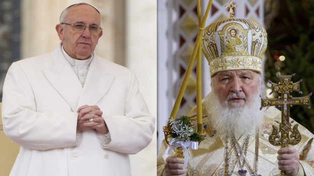 Fotomontascha - san. il Papa Franzestg e dretg il Patriarch Kirill