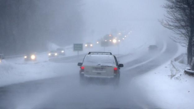 Via da traffic cun blera nebla