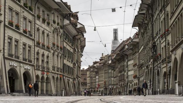 Vista sin la citad veglia da Berna.