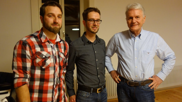 Ils frars Christoph ed Alexander Nadig, sco era Albert Mächler vulessan manar il nov Don Bosco