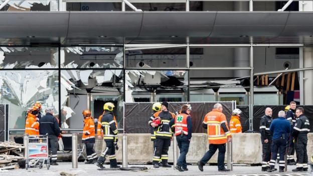 Plazza aviatica da Brüssel-Zaventem suenter ils attentats