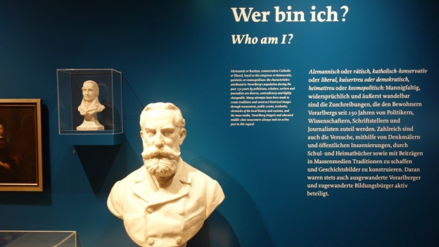 Tavla d'exposiziun en in Vorarlberg Museum