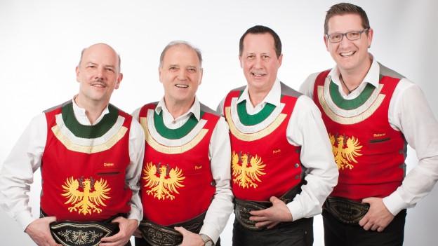ils quatter musizists da la Band Original Zillertaler