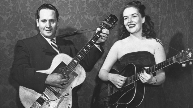 Purtret daLes Paul & Mary Ford.