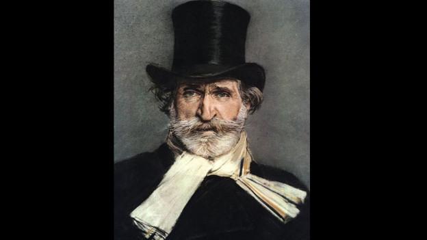 Purtret da Giuseppe Verdi.