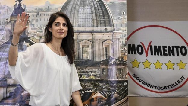 Virgina Raggi è la nova presidenta da Roma.