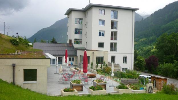 Casa Sogn Giusep cun sia terrassa.