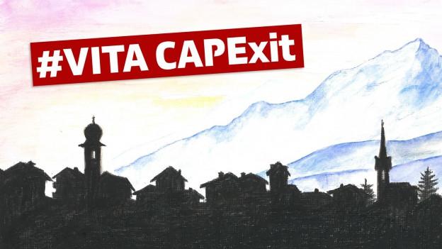 il vitg da Surgonda cun il text Vita Capexit