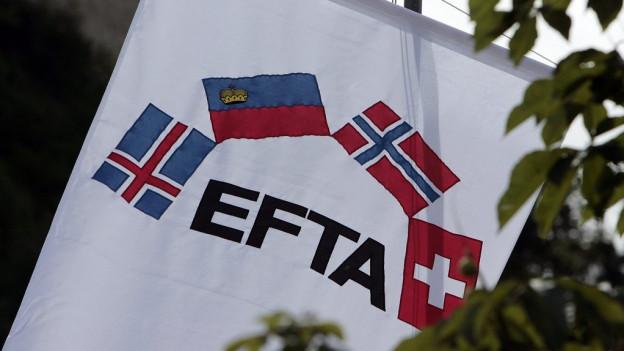 A l'EFTA fan part la Svizra, il Danemarc, la Islanda ed il Liechtenstein