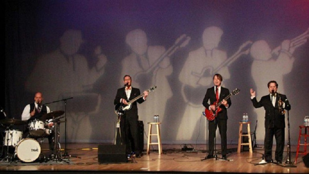 Ils chantadurs e musicists da la gruppa Four Freshmen.