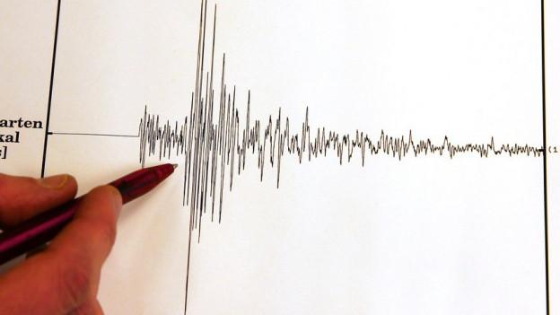 il seismonogram durant scriva la fermezza dal terratrembe