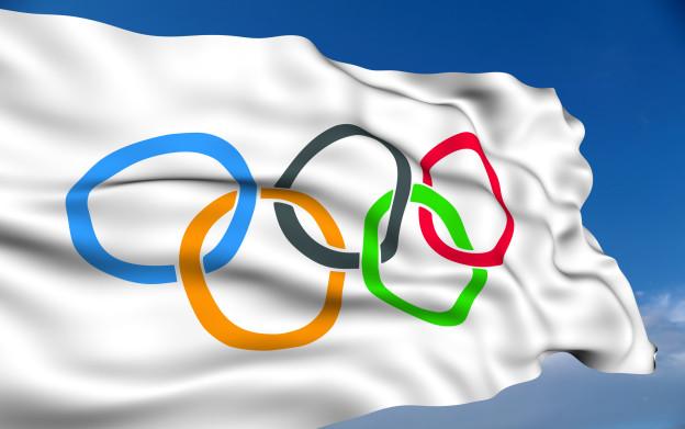 La bindera cun ils rings olimpics