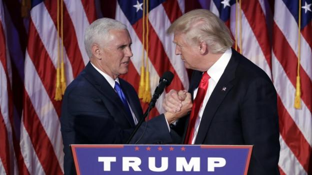 Mike Pence, il nov numer dus a Washington cun ses schef Donald Trump