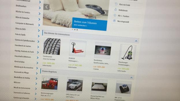 La pagina da vender rauba Ricardo.ch