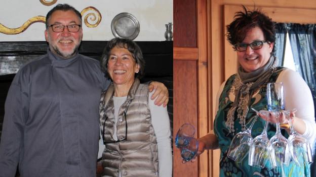 Didi e Sina Gapp-Caprez da Guarda e Sandra Albin da Breil.