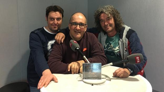 Moderatur Sergio Guetg ensemen cun Robert Rohner ed Edwin Zinsli
