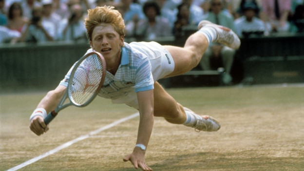 Boris Becker en il Centre Court a Wimbledon 1985