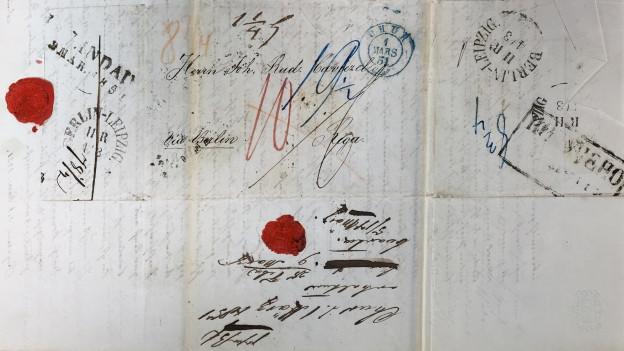 Ils blers Grischuns en Russia mantegnevan in stretg contact cun la patria – qua ina brev ch'ha fatg il viadi da Cuira a Riga