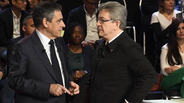 François Fillon e Jean-Luc Mélenchon