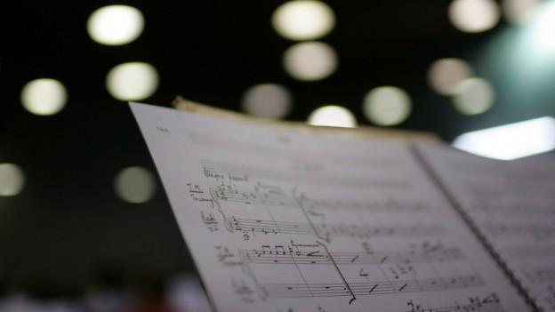 ina partitura da notas