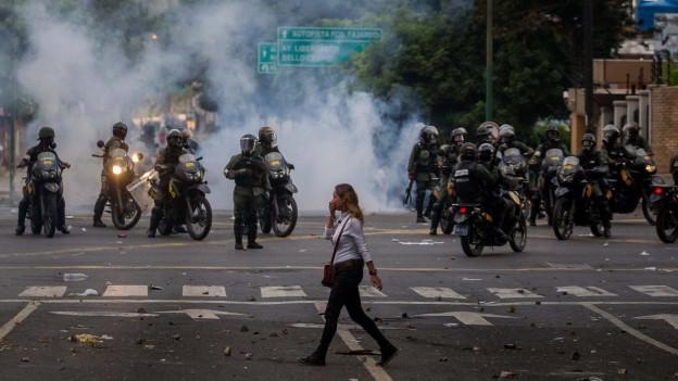 Demonstraziuns en Venezuela.