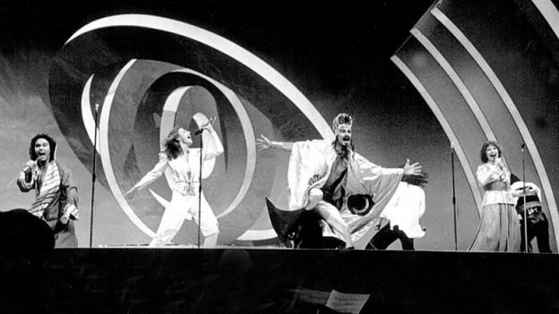 La gruppa Dschinghis Khan sin il palc dal ESC 1979.