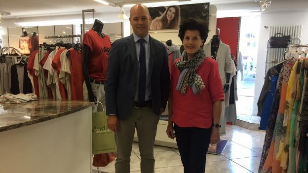 Sascha Decurtins e Marianna Blumenthal da la Moda Decurtins a Glion