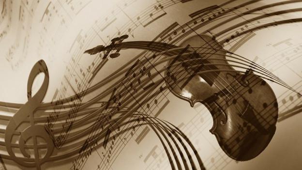 Ina violina sin in fegl da notas