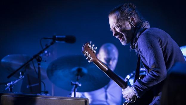 Thom Yorke da la band Radiohead.