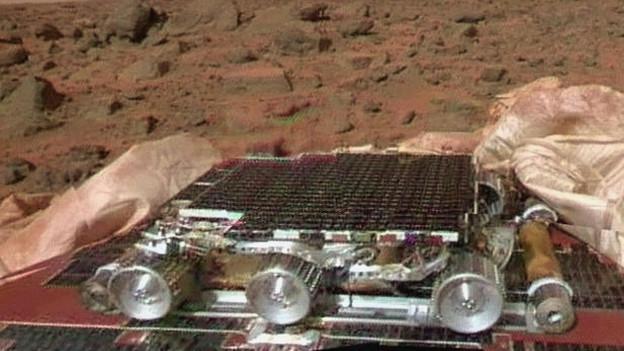 Il Pathfinder – ina sonda ed in roboter – l'onn 1997 sin il mars.
