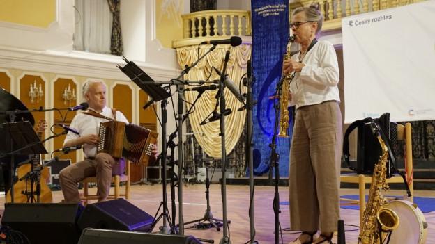 Il duo tessinais Vent Negru live da Cesky Krumlov.