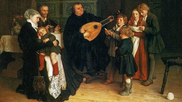 Luther fa musica en famiglia