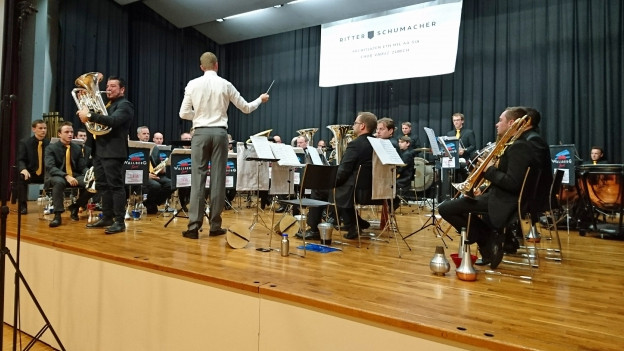 La Wallberg Band sin il palc durant il concert.