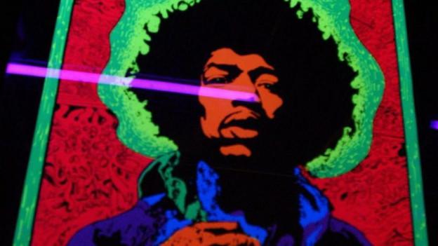 Jimmy Hendrix figura legendara en la scena da rock.